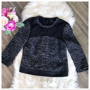 Pink Tartan Sweater Black and white